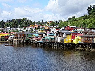 Stilt house - Palafitos in Castro, Chiloé.