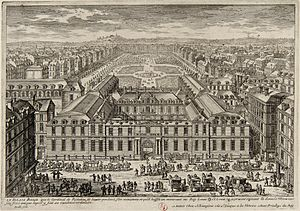 Paris in the 17th century - The Palais-Royal and its garden in 1679