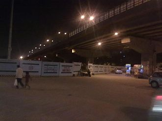 Palam - Palam Metro Station Construction Work