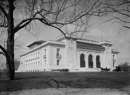 The Pan American Union shortly after its construction in 1910 Pan American between 1910 and 1920 (cropped).jpg