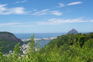 Panoramic View, South part of the city, Rio de...