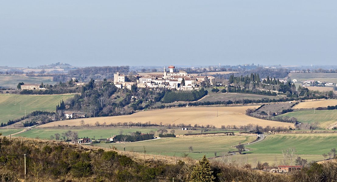 English:  Saint-Julia, Haute-Garonne, France. View from St Felix de Lauragais.