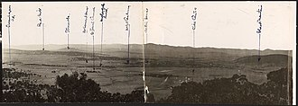 Mount Ainslie - Panorama of the site for Canberra taken from Mt. Ainslie, 1910s / Frank Boland