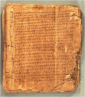 Papyrus 66 - The first page of the papyrus, showing John 1:1-13 and the opening words of v.14