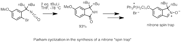Parham cyclization in MitoSpin