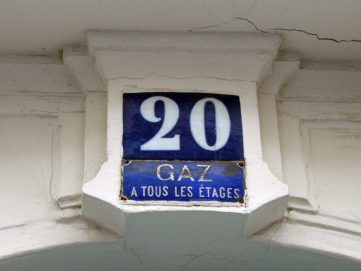plaque gaz de ville