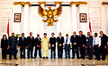 Participants of Bandung Spirit Program with Pacific Countries 2011 on Disaster Relief with Minister of Foreign Affairs of the Republic of Indonesia, Dr. R. M. Marty M. Natalegawa after courtesy call meeting, 22 March 2011.jpg