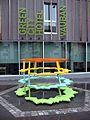 Pascal Häusermann L'art de la guerre, 2012, Plastik vor dem Green City Hotel in Freiburg-Vauban 3.jpg
