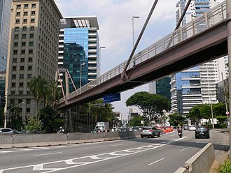 Marcelo Fromer - The skyway named after Fromer over Juscelino Kubitschek Avenue, in São Paulo, Brazil.