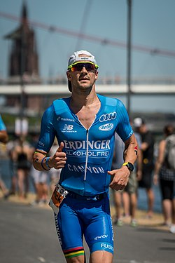 Beim Ironman Germany (Ironman European Championships) in Frankfurt am Main (2018)