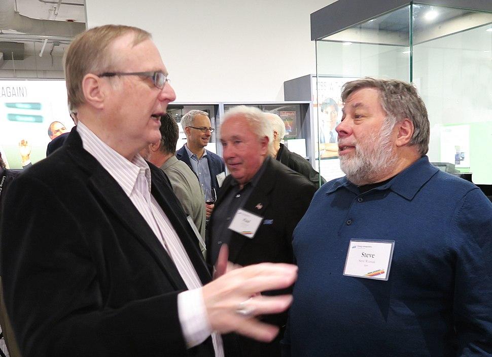 Paul Allen and Steve Wozniak at the Living Computer Museum