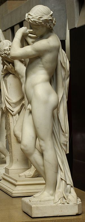 Paul Dubois (sculptor) - Narcisse by Paul Dubois. A marble version decorates the façade of the Louvre in Paris and another is at the Musée d'Orsay