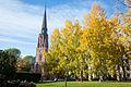 Paulus kirke Birkelunden autumn foilage (120941).jpg