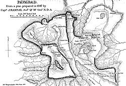 Plan of Pavagadh, 1847, by J Ramsay