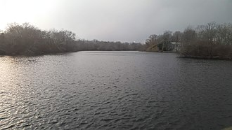 Peconic River - The Peconic near its mouth in Riverhead, New York