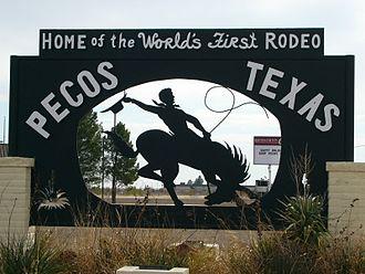 Pecos, Texas - Signpost in Pecos