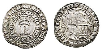 Spanish real - Silver real coined in Seville during the reign of Peter I of Castile (1350-1369).
