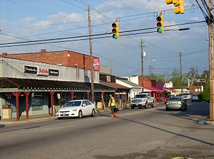Pembroke, North Carolina - Third Street in Pembroke