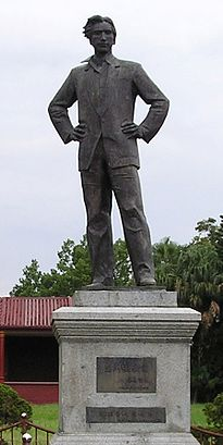 A Statue of Peng Pai in Haifeng County seat