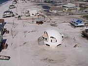Pensacola Beach, Florida after Hurricane Dennis in 2005