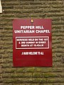 Pepper Hill Unitarian Chapel, Sign - geograph.org.uk - 1284718.jpg
