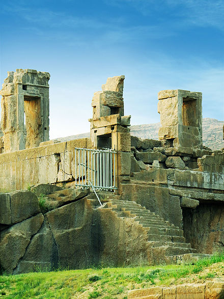 Ruins of the Western side of the compound at Persepolis. Persepolis east side-02 at spring.jpg