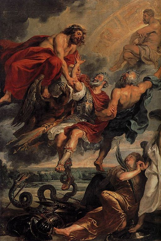 Peter Paul Rubens - The Apotheosis of Henry IV and the Proclamation of the Regency of Marie de Médicis on May 14, 1610 (detail) - WGA20343