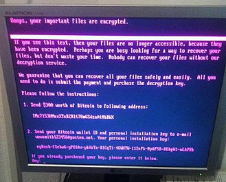 Petya (malware) - NotPetya's ransom note displayed on a compromised system