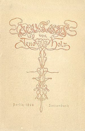 Arno Holz - Title page of a 1928 edition with Art Nouveau decoration