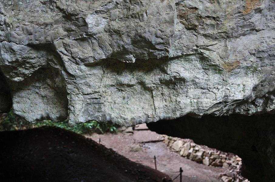 Phosphatières du Cloup d'Aural - 20140925 - Traces d'exploitation