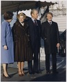 Photograph of President Gerald Ford, First Lady Betty Ford, President-Elect Jimmy Carter, and Rosalynn Carter... - NARA - 186838.tif