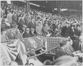 Photograph of President Truman and his official party at Griffith Stadium in Washington for the first game of the... - NARA - 199577.tif