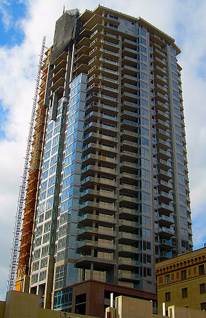 44 Monroe - February 2008, the city's 4th-tallest building nearing completion