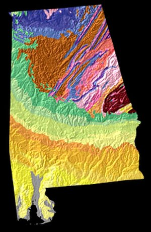 Geography of Alabama - Physiographic regions in Alabama