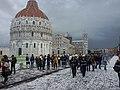 Piazza dei Miracoli a Pisa dopo una grandinata.jpg