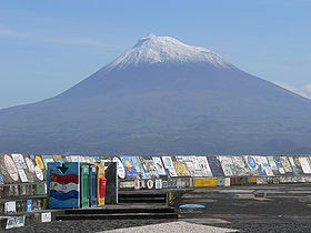 View of Pico from the harbour of Horta (Faial)
