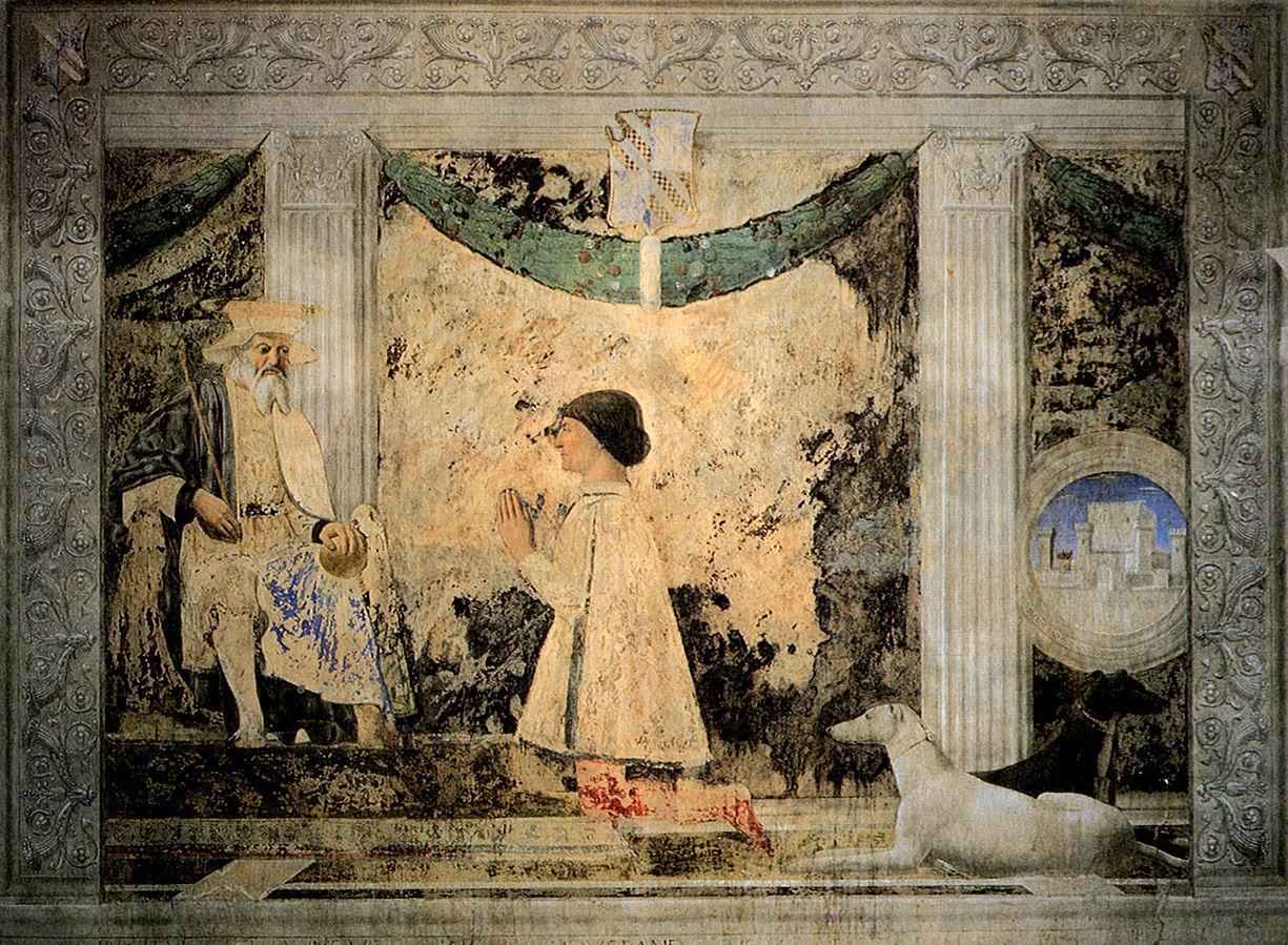 Sigismondo Pandolfo Malatesta en prière devant saint Sigismond