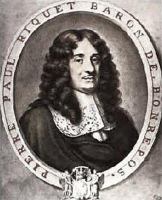 Canal du Midi - Portrait of Pierre-Paul Riquet, the designer of the Canal du Midi.