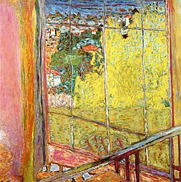 Pierre Bonnard The Studio at Le Cannet, with Mimosa.jpg