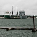 Piers of Marchwood Military Port seen across the River Test - geograph.org.uk - 476113.jpg