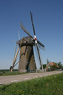 Piershil Village in South Holland, Netherlands