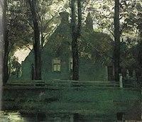 Piet Mondriaan - Façade of Maria's Hoeve farm building on the Gein - A248 - Piet Mondrian, catalogue raisonné.jpg