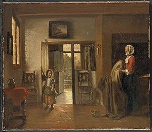 The Bedroom (Widener Collection) - Image: Pieter de Hooch The Bedroom d 5766002a