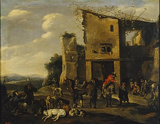 Bamboccianti - Hunter at Rest by Pieter van Laer