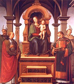 Pietro Perugino Virgin Mary and Saints.JPG