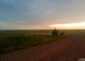 Pine Ridge, Oklahoma - Sunset on June 6, 2009 at Pine Ridge