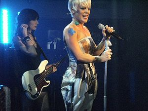 P!nk performing at a secret London gig to prom...