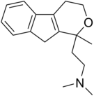 Chemical structure of pirandamine.