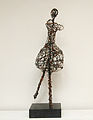 Pirouette - 24x7x7 in Rusted Steel Wire with Marble Base.jpg
