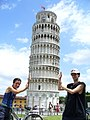 Pisa - Torre Pendente - Andrea & Zsolti balancing the tower - panoramio.jpg